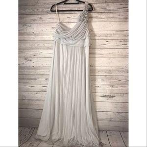 Cinderella Brand bridesmaid gown. Color ... gray